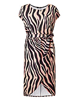 Quiz Curve Animal Print Dress