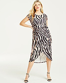 Quiz Curve Neon Animal Print Dress