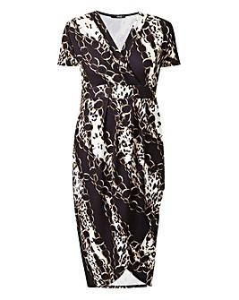Quiz Curve Multi Print Dress