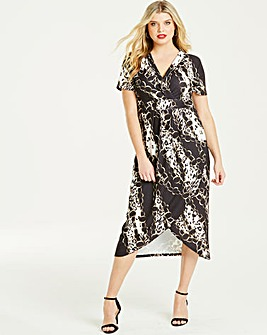 Quiz Curve Multi Print Dress