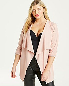 Quiz Curve Blush Waterfall Jacket