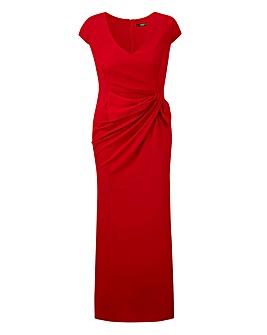 Quiz Curve Red Wrap Maxi Dress