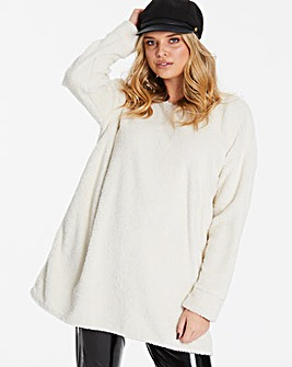 Lasula Teddy Fur Oversized Jumper Dress