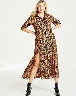 AX Paris Zebra Print Long Shirt Dress