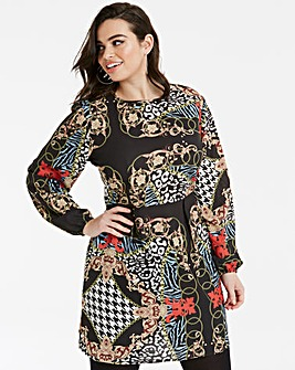 AX Paris Mixed Print Skater Dress