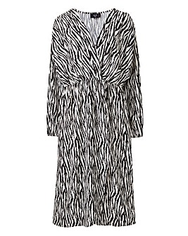 AX Paris Zebra Print Wrap Midi Dress