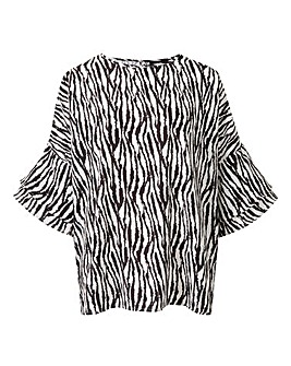 AX Paris Zebra Print Boxy Blouse