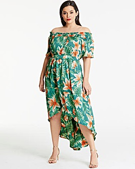 Lovedrobe Tropical Print Maxi Dress