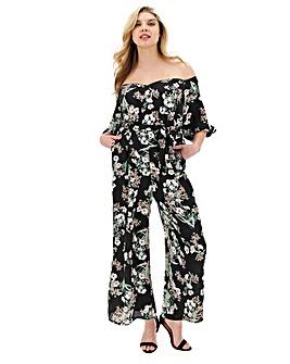 Lovedrobe Print Bardot Jumpsuit