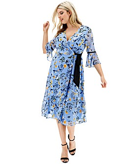 Lovedrobe Print Wrap Dress