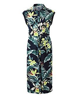 Oasis Curve Tropical Shirt Dress