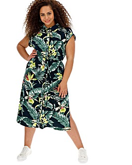 Oasis Curve Tropical Shirt Dress