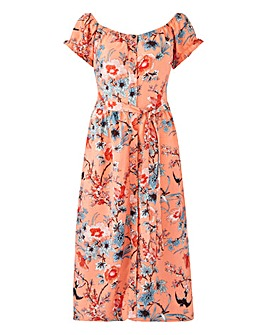 46478932a7f Oasis Curve Bardot Midi Dress