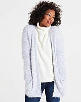 Pale Blue Fluffy Cardigan