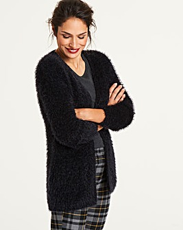 Black Fluffy Cardigan