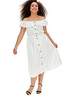 Oasis Curve Stripe Midi Skirt