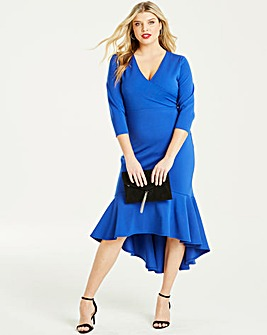 Quiz Royal Blue Fishtail Dress