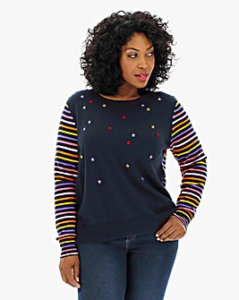 Oasis Curve Star Stripe Jumper