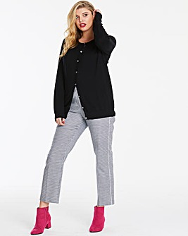 Black Crew Neck Cardigan