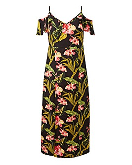 Lovedrobe Tropical Split Hem Maxi Dress