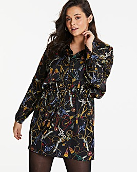 0e9e4fb44d2 AX Paris Chain Print Shirt Dress