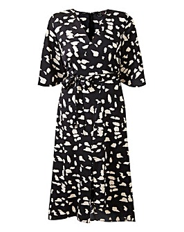 AX Paris Mono Print Midi Dress