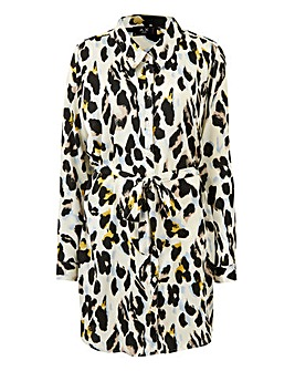 AX Paris Leopard Print Tunic Shirt Dress