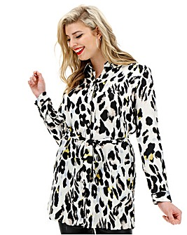 AX Paris Leopard Print Tunic Shirt Dress