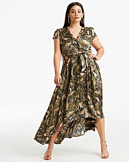 AX Paris Curve Tropical Wrap Dress