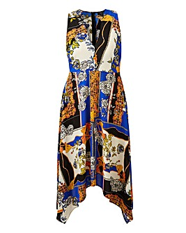 AX Paris Hanky Hem Scarf Print Dress
