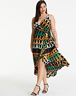 AX Paris Curve Geo Midi Dress