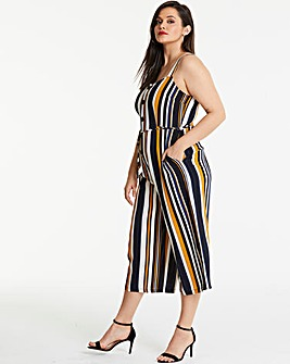 AX Paris Curve Stripe Jumpsuit