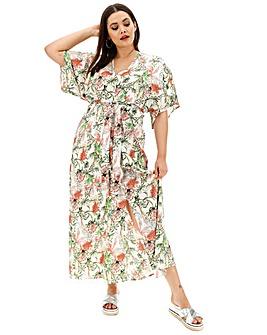 Glamorous Floral Midi Dress