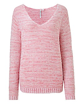 Pink Textured Jumper