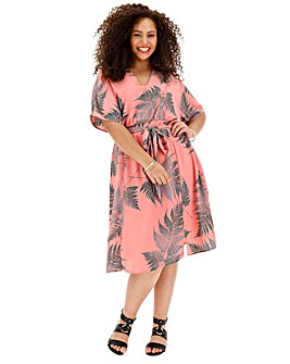 Glamorous Fern Print Midi Dress