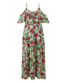 Glamorous Floral Printed Midi Dress