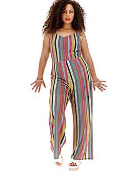 Glamorous Lurex Stripe Festival Jumpsuit
