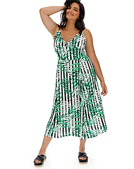 f7ef9d44d53 Glamorous Stripe and Tropical Maxi Dress