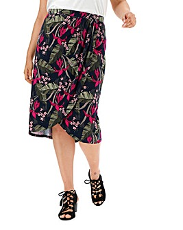 Oasis Curve Tropical Drape Skirt