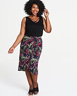 Oasis Curve Tropical Drape Skirt