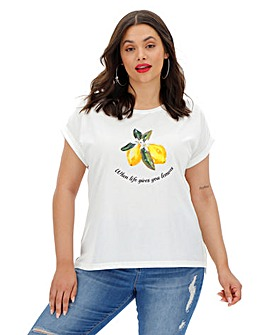 Oasis Curve Lemon Novelty Tee