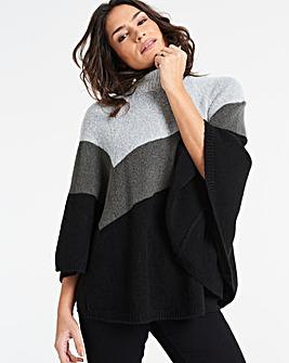 Multi Stripe Super Soft Poncho