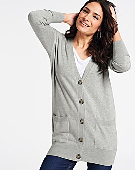 Light Grey Marl Boyfriend Cardigan