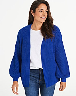Cobalt Dropped Shoulder Cardigan
