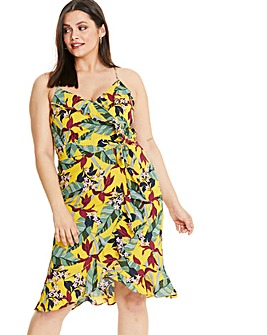 Oasis Curve Bali Tropical Tie Front Midi