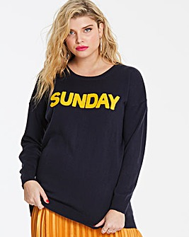 Sunday Slogan Jumper