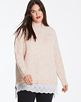 Blush Broderie Anglaise Jumper