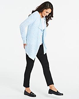 Blue Textured Cardigan