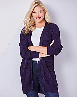 Black/Purple Boyfriend Cardigan