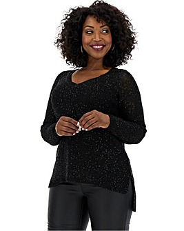 Junarose Sequin Knit Pullover
